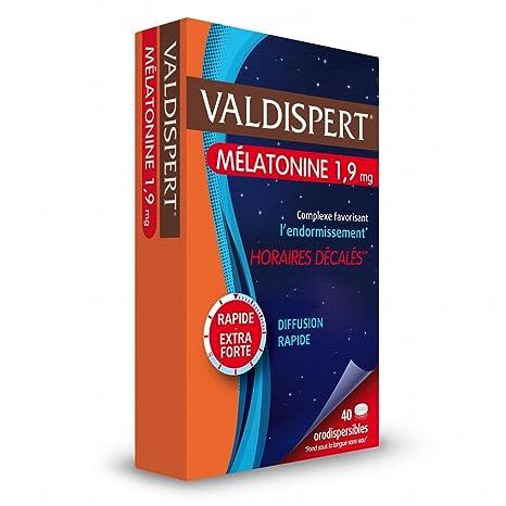 Valdispert - Cápsulas de melatonina 1,9 mg - Reduce el Tiempo para Conciliar el Sueño, el Insomnio, el Estrés y la Fatiga - Para el jet lag - Ayuda a dormir ...
