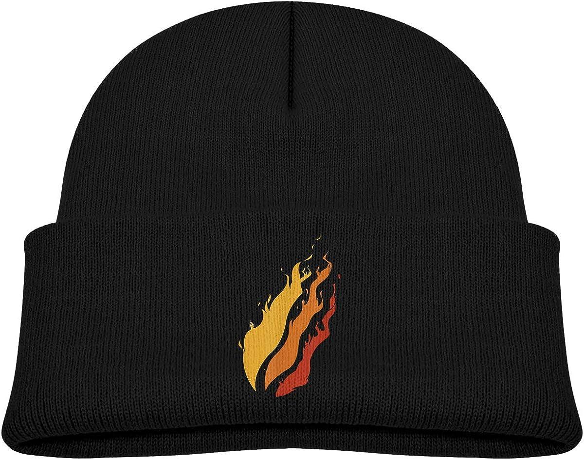XONEENG Personalized Preston Fire Nation Playz Gamer Flame Logo Warm Winter Kids Hat Knit Beanie Cap for Boys Girls