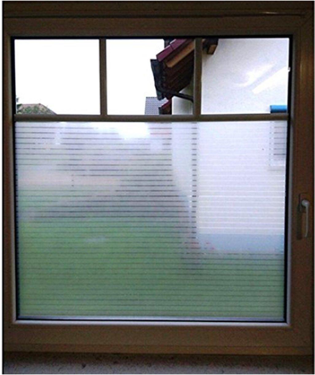 Geseni Fensterfolie Sichtschutzfolie Streifen Statisch Folie