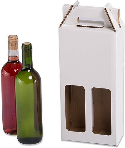 Pack de 20 Estuches para botellas de vino automontables. Caja en ...