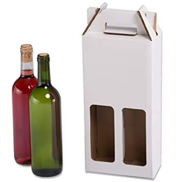 Pack de 20 Estuches para botellas de vino automontables ...