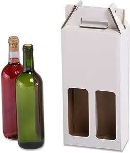 Pack de 20 Estuches para botellas de vino automontables. Caja en cartón, automontables, medida estándar. TeleCajas X20CBVB2 (x20) (para 2 botellas): Amazon.es: Oficina y papelería