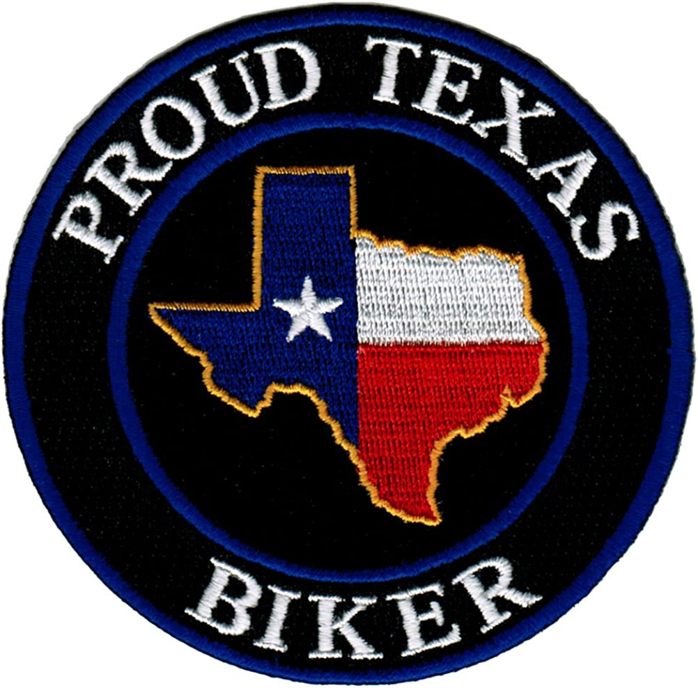 TEXAS EMBROIDERED MAP PATCH US STATE 3 INCHES