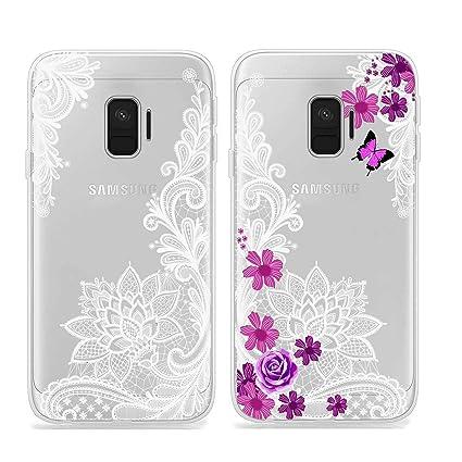 40b66db42fc Reshias 2X Funda Samsung Galaxy J2 Core, Cárcasa Silicona 3D Transparente  Gel TPU [Antigolpes