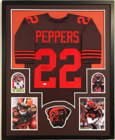 new concept 07354 27a57 Jabrill Peppers Autographed Signed Custom Framed Cleveland ...