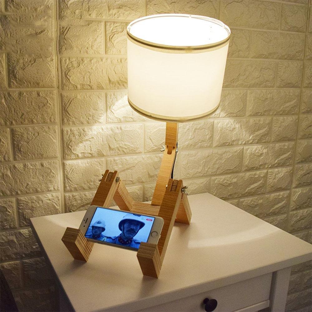 Forma de Casa la robusteza Lámparas Moda ambiental Casa de madera Lámpara de sobremesa 67f17d