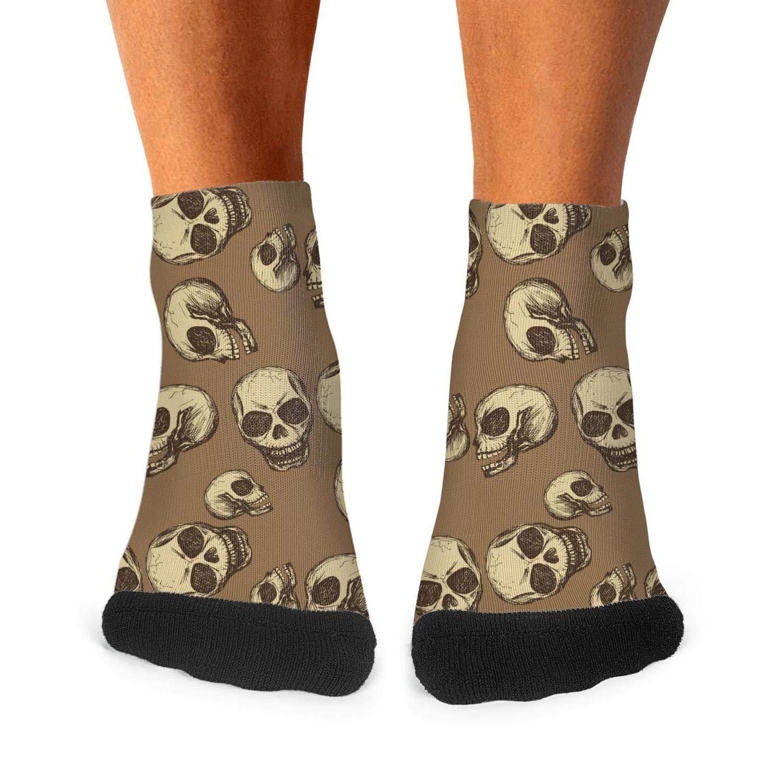 Funny red skull pop Fashion Mens Sporty Non-slip Cotton socks