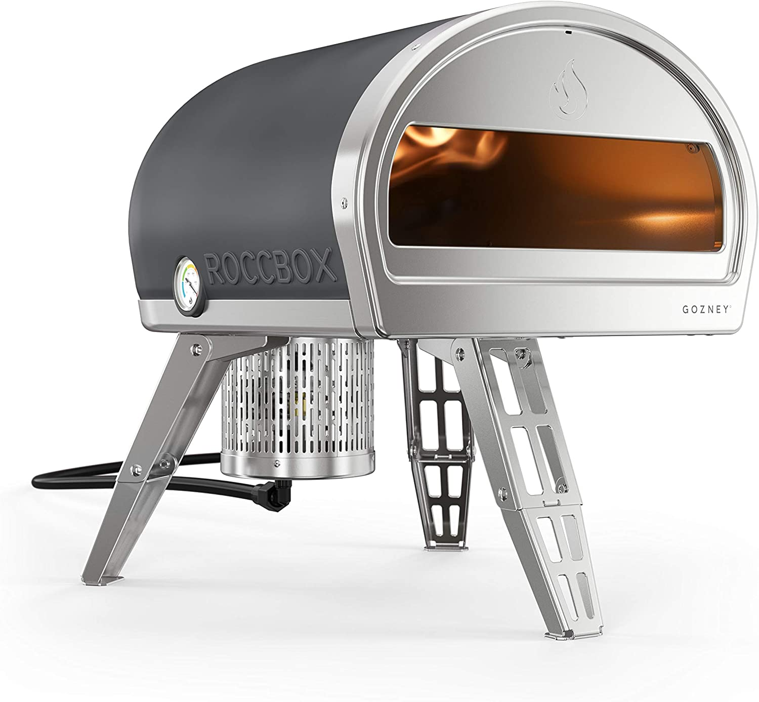 ROCCBOX by Gozney Portable Outdoor Pizza Oven - Gas Fired, Fire & Stone Outdoor Pizza Oven, Includes Professional Grade Pizza Peel