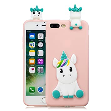 Leton Funda iPhone 8 Plus Silicona Unicornio 3D Suave ...