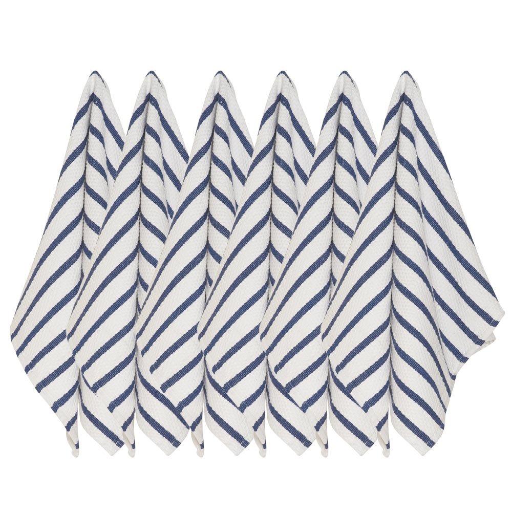 Now Designs Basketweave Kitchen Towel, Set of Six, Indigo Blue by Now Designs