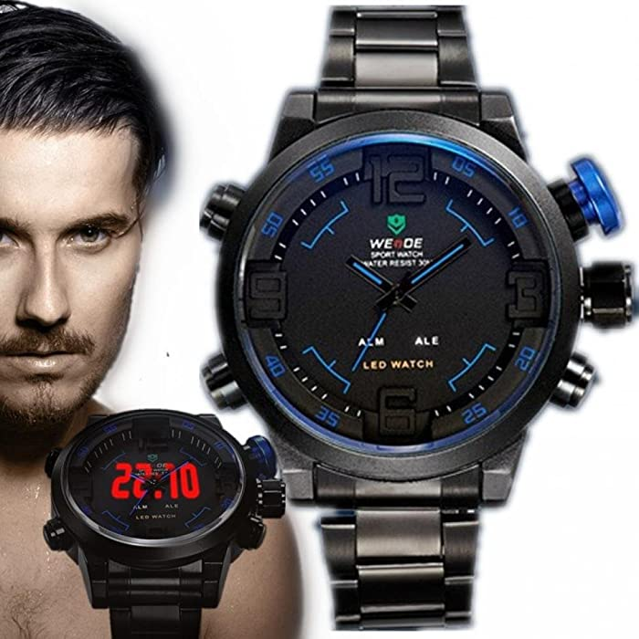 Amazon.com: Orders Forever Weide MenS Casual Digital Wristwatches Sports Army Led Military Quartz Watches Men Luxury Famous Brand Watch Reloj Hombre Clock: ...