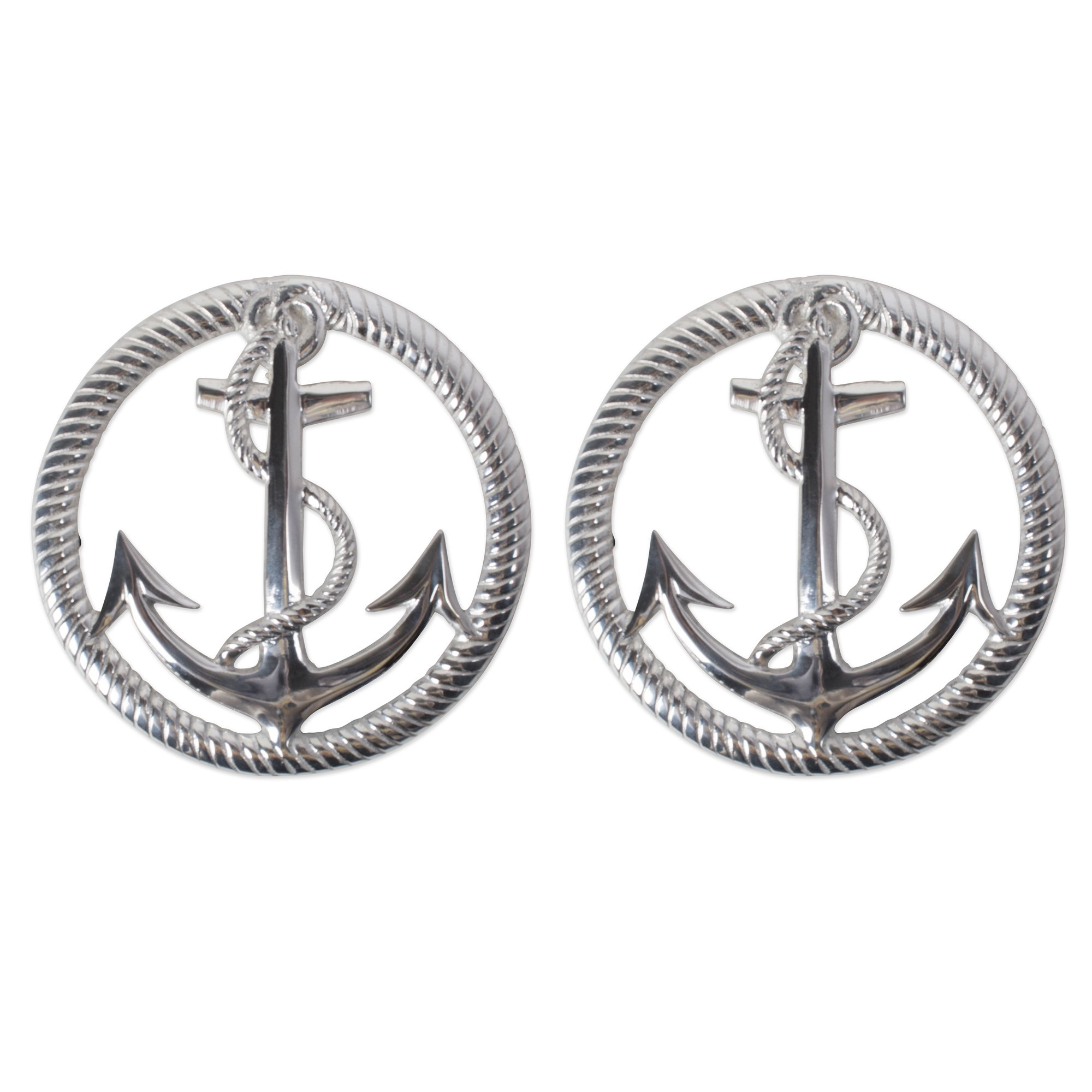 DII CAMZ10639 Cast Iron Anchor and Rope Trivet with Rubber Pegs for Hot Dishes, Kitchen or Dining Table, Set of 2, 8 x 8, Anchor & Rope 2 Pack