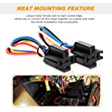 GOOACC G-RE6 6 Pack Automotive Set 5-Pin 30/40A 12V SPDT with Interlocking Relay Socket and Harnesses,2 Years Warranty