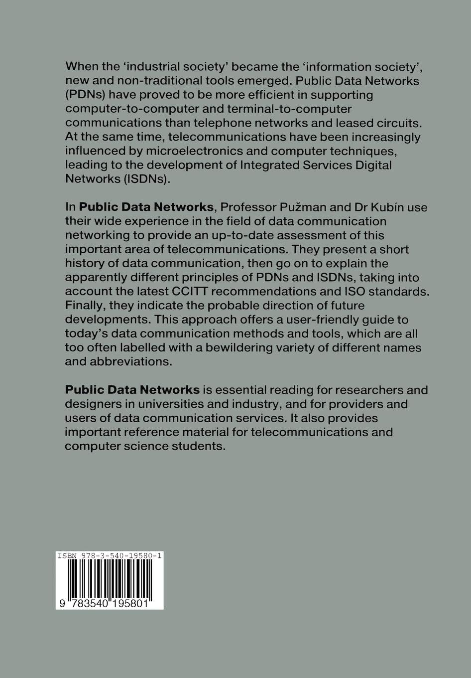Public Data Networks: From Separate PDNs to the ISDN