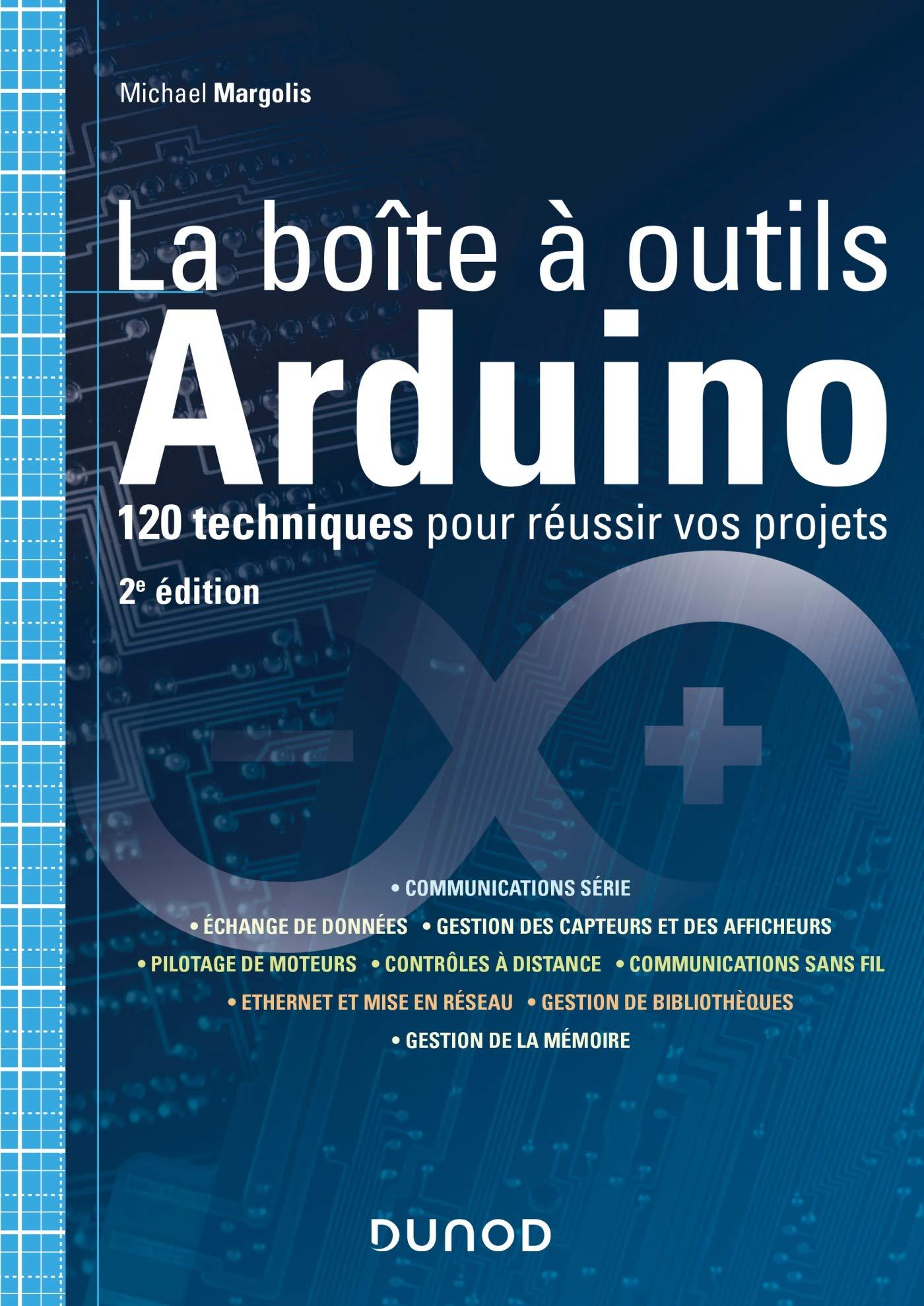 couverture du livre La boîte à outils Arduino - 2e éd.