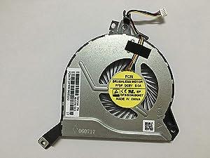 HK-Part Replacement Fan for HP Envy 15-K000 K100 15-K200 Pavilion 15-P000 15-P100 15-P200 Series CPU Cooling Fan 4-Pin 4-Wire