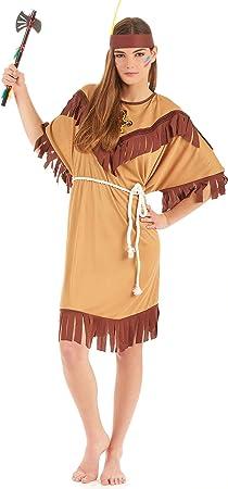 Adulti Donna Rosso Indiano Nativo Americano Costume