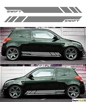 Supersticki 2x Suzuki Swift Aufkleber Sticker Decal Aus Hochleistungsfolie Aufkleber Autoaufkleber Tuningaufkleber Racingaufkleber Rennaufkleber Von