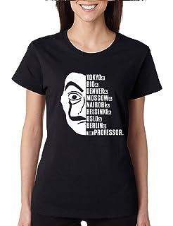 Allntrends Womens T Shirt Tokyo Rio Moscow The El Professor Shirt Trendy Tee