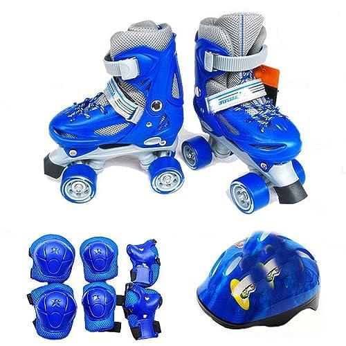 AALHM Zapatillas de Skate Filas Simples y Dobles Patines Ajustables Patines de Ruedas para Adultos Patines