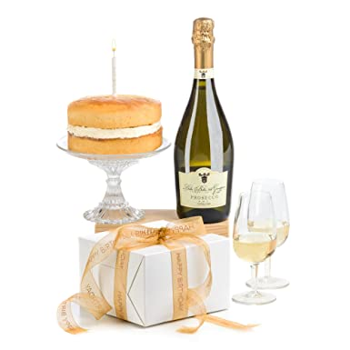 Hay Hampers Birthday Cake Candle Prosecco Hamper Gift