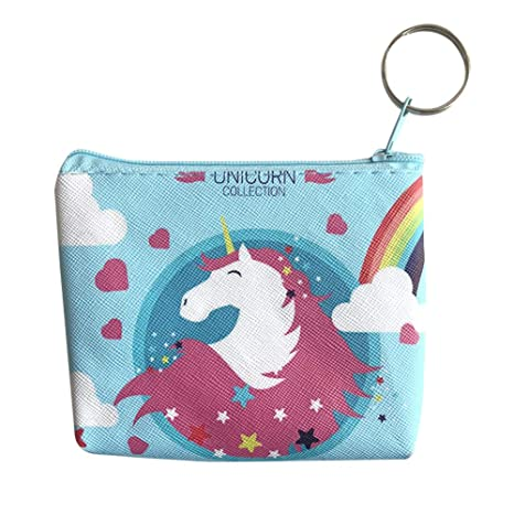 Kanggest.Mini Monedero Unicornio Amor Mujer y niña Billetera ...