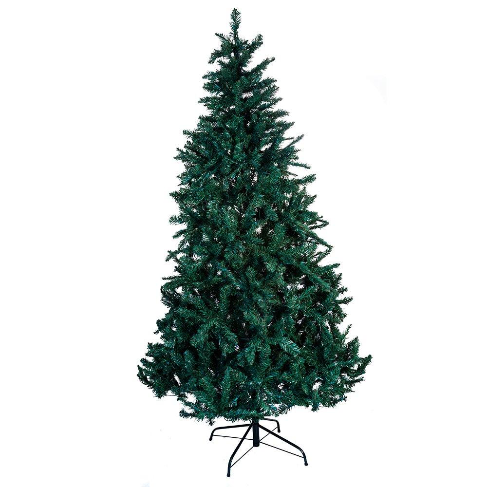 Amazon.com: Kurt Adler Pre-Lit Point Pine Christmas Tree, 7-Feet ...