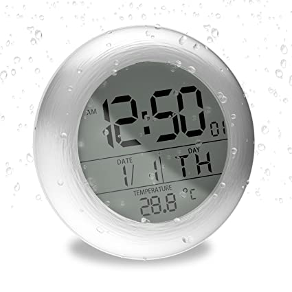 Delicieux Fashion Waterproof Bathroom Wall Clock Suction Cup Shower Clock With LCD  Display Table Clock U2026 (