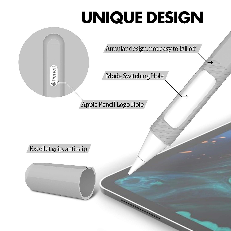 BELK Funda Apple Pencil 2./ª generaci/ón iPad Pro 12.9 2018 y iPad Pro 11 2018 Funda Ultra Delgada Protectora Antideslizante para l/ápiz de Silicona para Apple Pencil 2/ª Generaci/ón,Claro