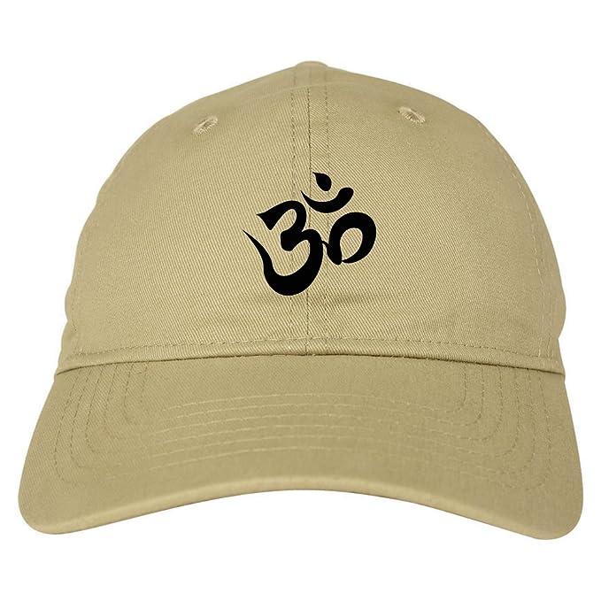 Om Ohm Symbol Dad Hat Baseball Cap Beige At Amazon Mens Clothing Store