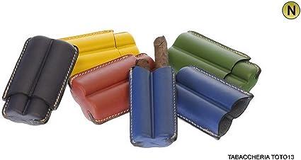 Puerto DOS puros Medio toscano de piel Harlequin – Hand Made in Italy (Rojo, Verde, Amarillo, Azul y Azul azul cobalto: Amazon.es: Hogar