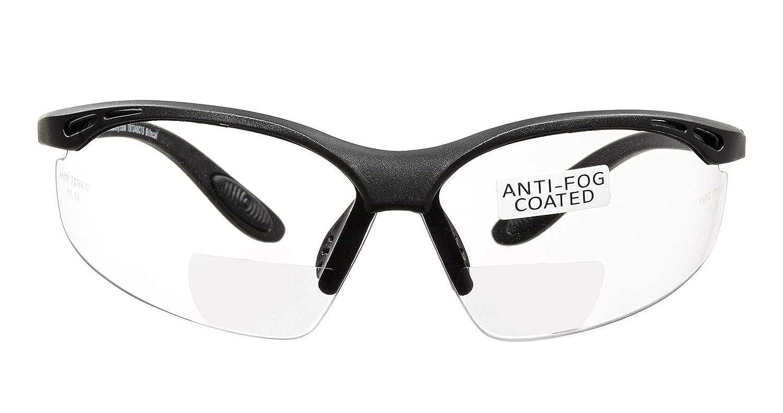 voltX 'CONSTRUCTOR' (TRANSPARENTE dioptría +2.5) Gafas de Seguridad de Lectura BIFOCALES que cumplen con la certificación CE EN166F / Gafas para Ciclismo incluye cuerda de seguridad - Reading Safety G