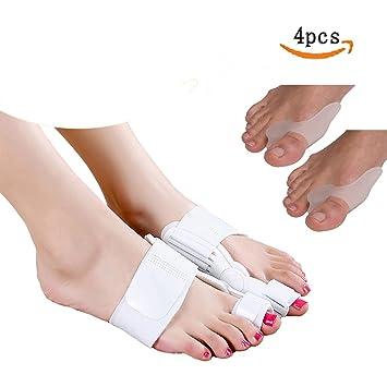 Férula, progoco 4 pcs hallux valgus Straightener Corrector Aliviar el Dolor para dedo del pie