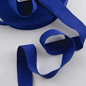Ripsband Hutband Sägekante 15mm blau Polyester