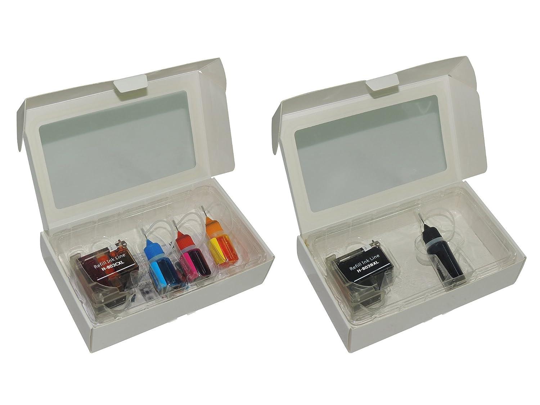 Pritop Transparent Shell Inkjet Cartridge 803 Xl 1 Black Hp Original Ink F6v21aa Color Combo With Multi Bottles Yellow Cyan Magenta For Deskjet 1111