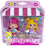 Pinypon - 700012735 - Mini Poupée - Coffret de 2 Figurines Shopping