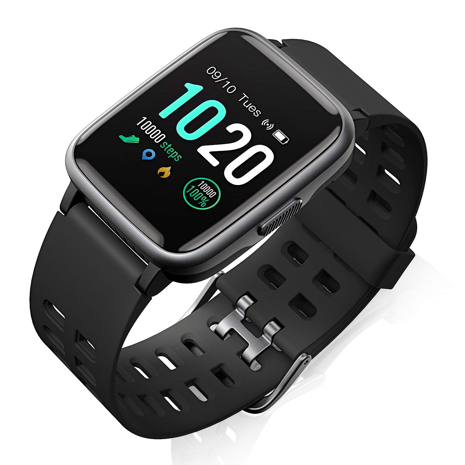 Fitness Smart Watch HR Activity Tracker Watch - 1.3'' Touch ScreenWaterproof Watch for Android iOS Phone with Heart Rate Monitor, Pedometer, Sleep Monitor, Calorie Counter for Kids, Women and Men by FITFORT