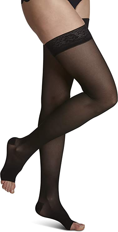 SIGVARIS Women/'s Style Patterns 710 Closed Toe Thigh-Highs w//Grip Top 20-30mmHg
