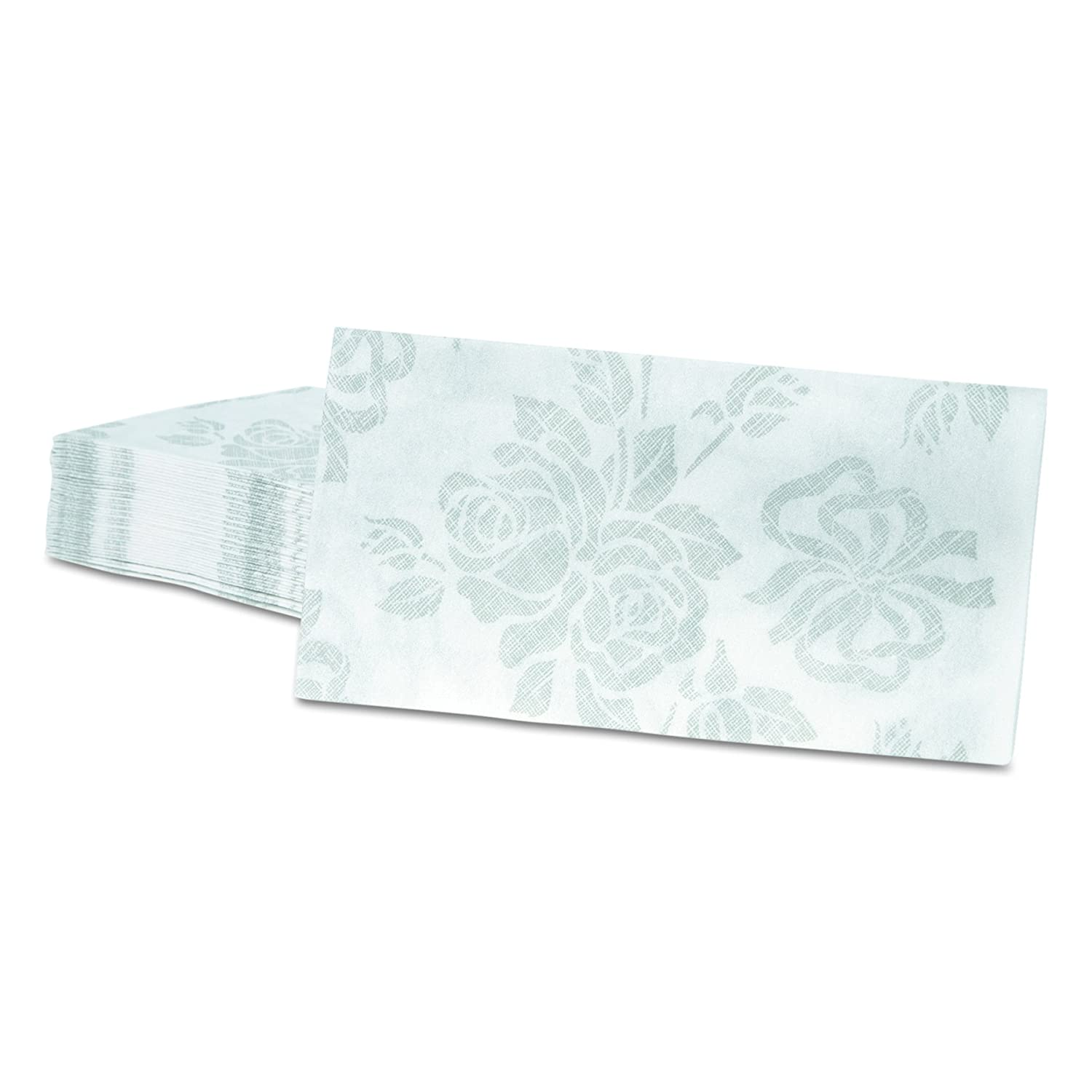 Hoffmaster 856513 Linen-Like Guest Towels Silver 125 per Pack Case of 4 Packs 17 x 12