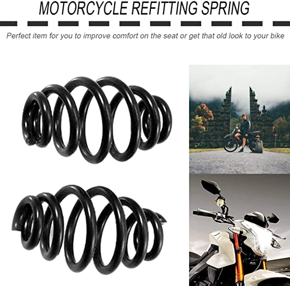 1 Para Motorrad 3Solo Sitz Tonnenfedern Professionelle Stahlfeder F/ür Harley F/ür Chopper F/ür Bobber Motorrad