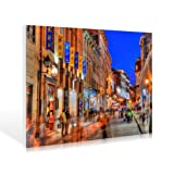 Leinwandbild Khandani 1 - HDR - RUE SAINT PAUL EAST BY NIGHT - MONTREAL - CANADA - 179 x 120cm - Premiumqualität - MADE IN GERMANY - ART-GALERIE-SHOPde