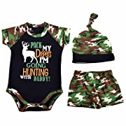 Unique Baby Boys Going Hunting with Daddy 1st Father's Day One Piece (12 Months)