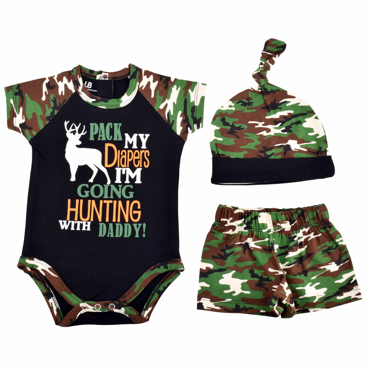 Unique Baby Boys Going Hunting with Daddy 1st Father's Day One Piece