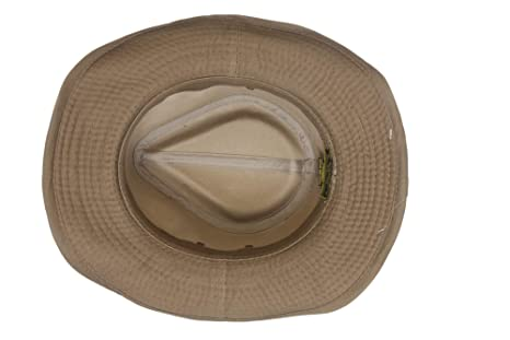 Dorfman Pacific Men s Twill Outback Hat at Amazon Men s Clothing store  f093821136f