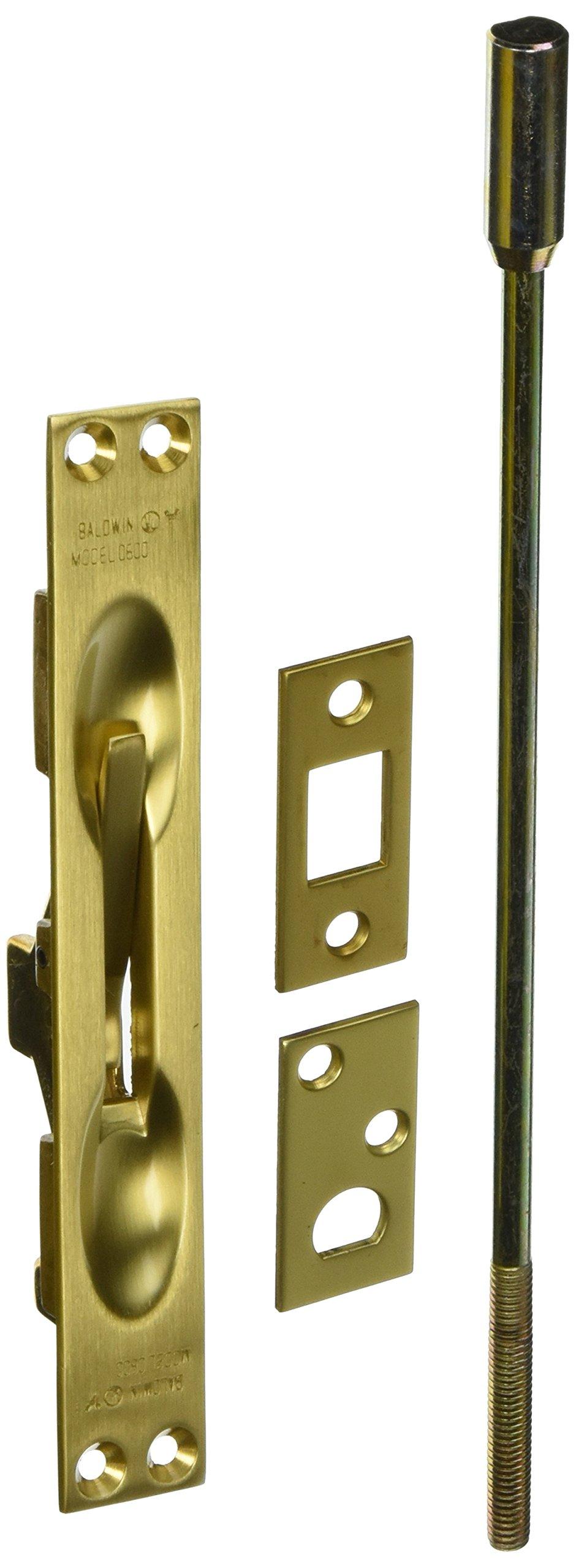 Baldwin 060004012 Flush Bolt, 12'', Satin Brass by Baldwin