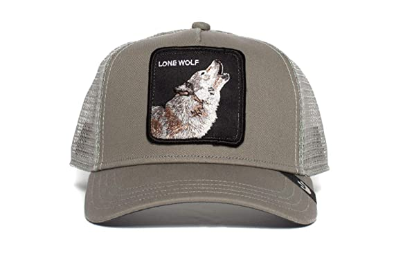 Amazon.com: Goorin Bros. Mens Lone Wolf Wolf Trucker Snapback Trucker Baseball Hat Grey: Clothing