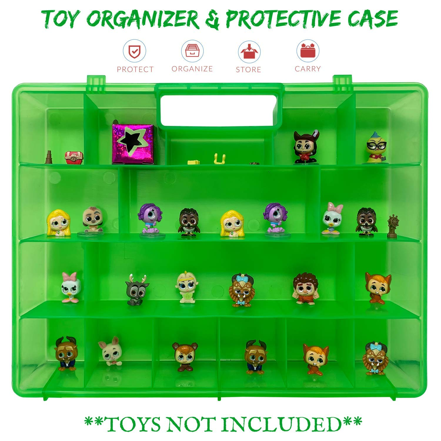 Life Made Better Protective Toy Storage and Travel Case Compatible with Doorables with Room for Dozens of Figures Green Toys Carrier