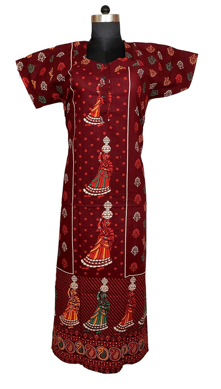 c9a42c478152b Amazon.com  Indian Women Cotton Night Gown Bikni Cover Plus Size Indian  Dress Long Skirt Maxi Bath Robe Nightdress  Clothing