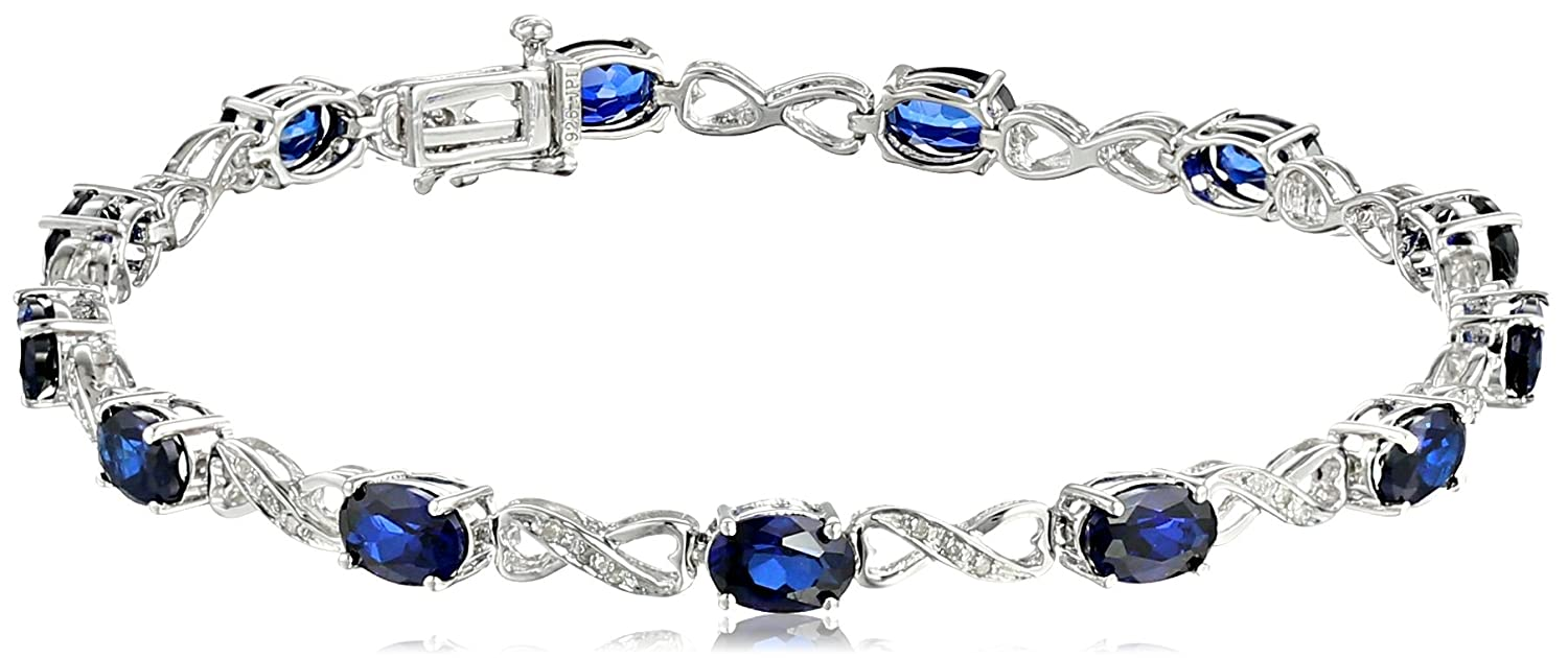 blue gem set sterling and stone with jewellery silver bracelet image diamonds bracelets sapphire gemstone