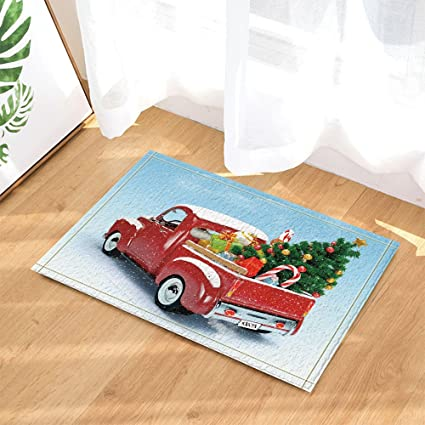 Amazon Com Nymb Christmas Decor Red Truck Was Fitted With Tree And